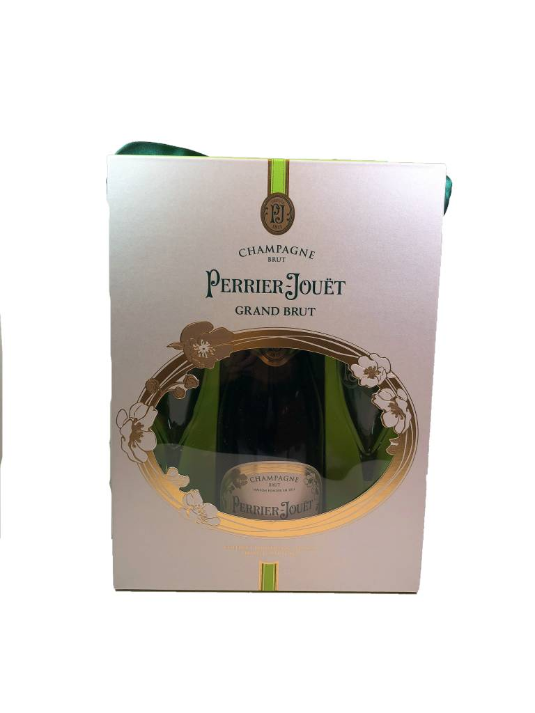France Champagne Perrier Jouet Grand Brut with 2 Flute