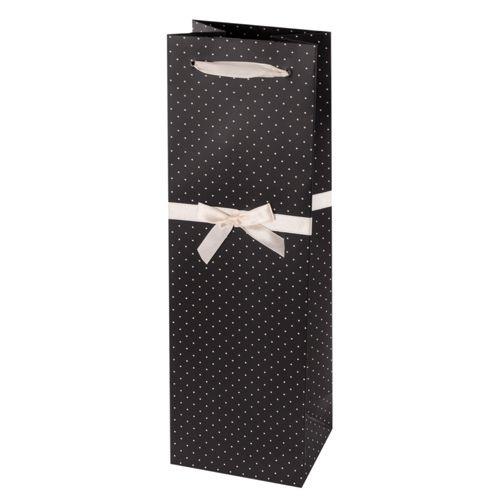 gift bag w tissue BLACK