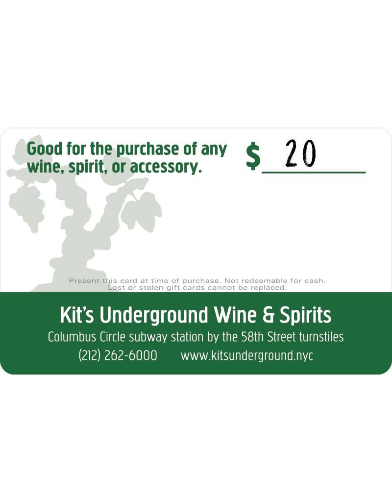 Kit's Gift Card: $20