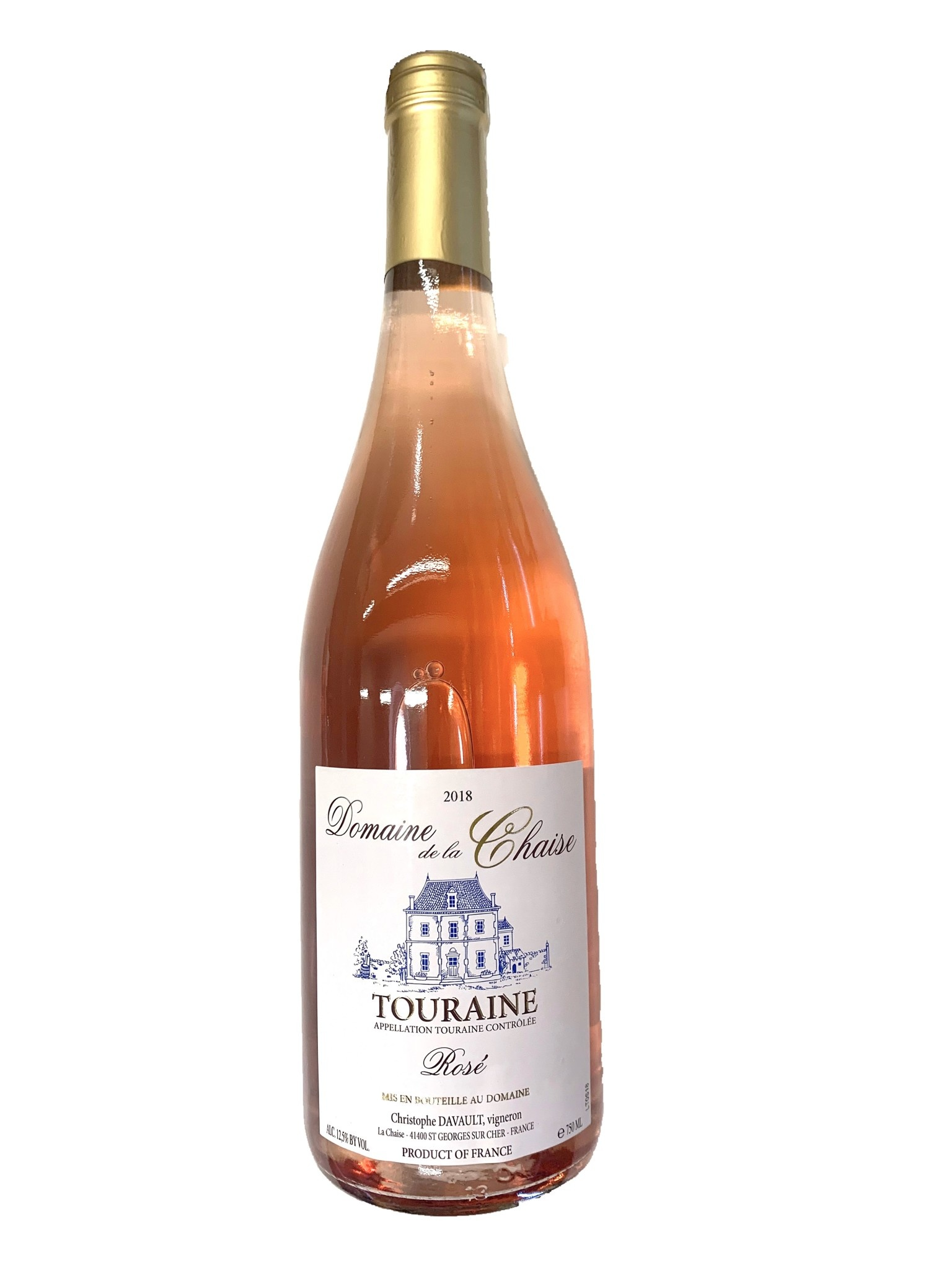 France Domaine de la Chaise rosé Touraine  2018