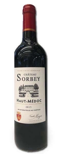 France Chateau Sorbey Bordeaux Haut Medoc 2015