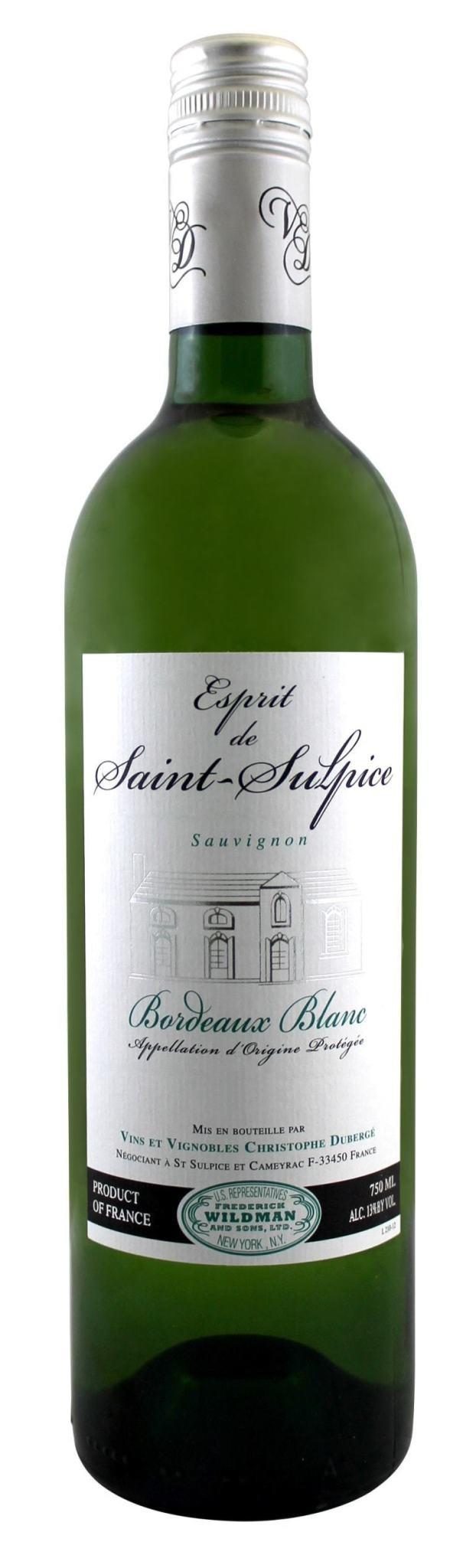 France Esprit De Saint Sulpice Bordeaux Blanc