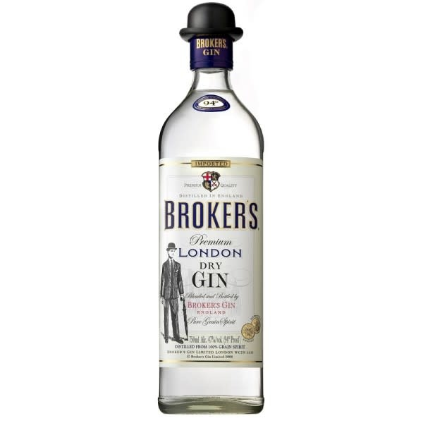 Brokers London Dry Gin 750ml