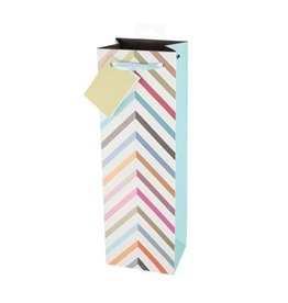 USA Pastel Chevron Wine Bag