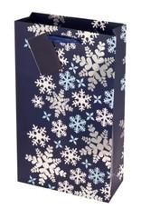 USA Blue Snowflake Double Bottle Bag