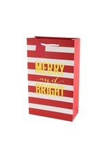 USA Merry & Bright Stripes Double Wine Bag