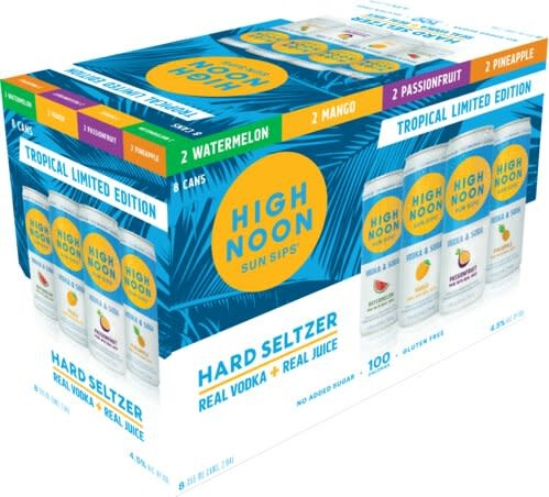 USA High Noon Hard Seltzer Tropical Limited Edition 8 Cans Pack