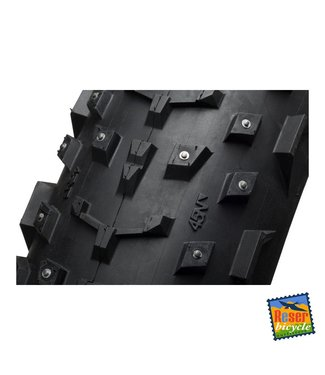 "45NRTH 45NRTH Dillinger 26x4.0"" Studded Fatbike Tire 60tpi Tubeless Ready Folding (240 steel carbide studs)"