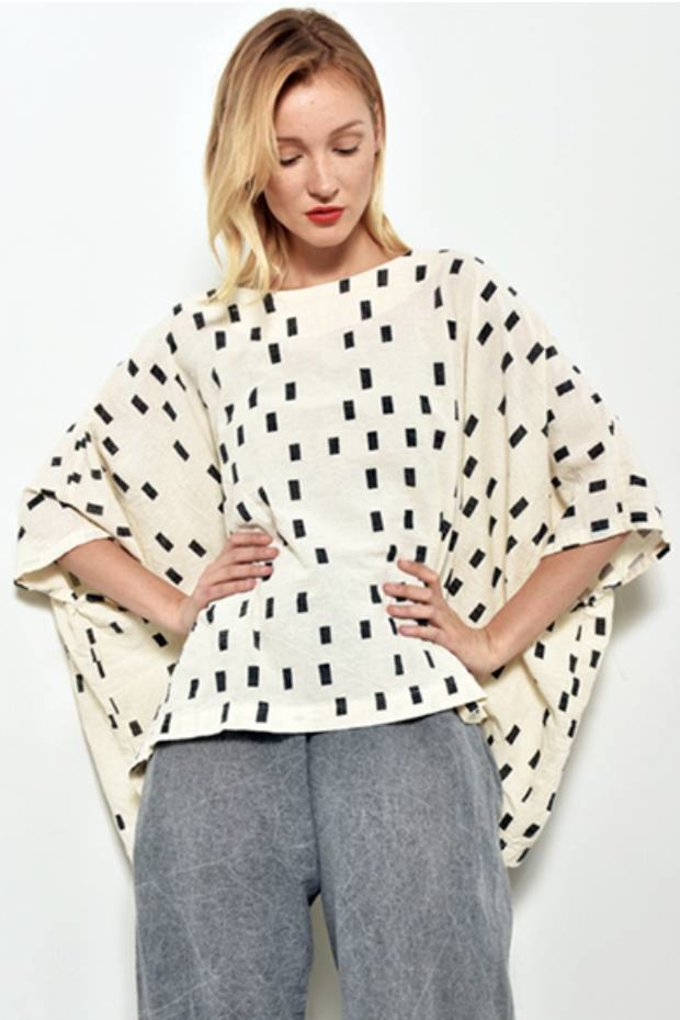 UZINYC Cube Top in Cream Disko