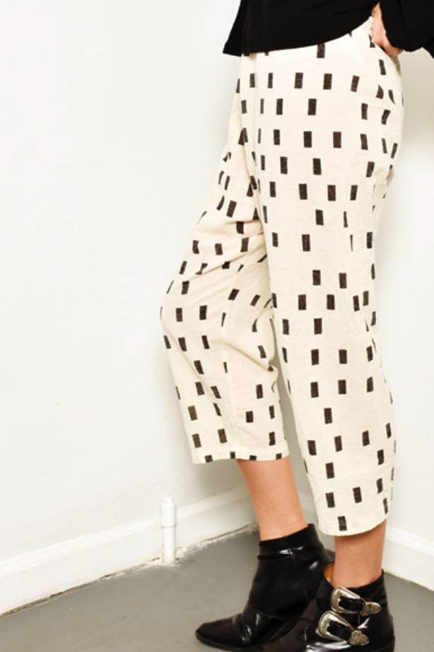 UZINYC Pants in Cream Disko