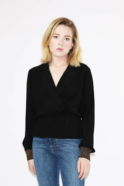 Just Female Lauren Blouse in Black