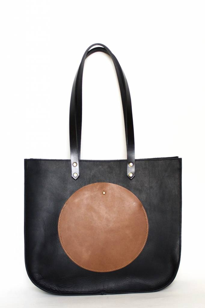 Neva Opet Isabel Tote in Black/Whiskey Pocket