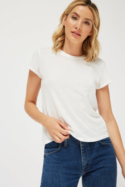 Lacausa Luxe Frank Tee in Whitewash