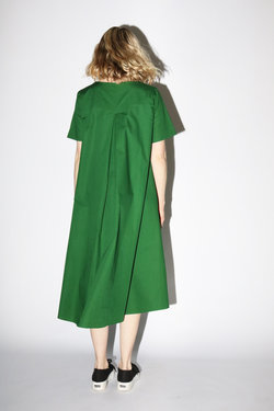 Kowtow Triangle Dress in Evergreen
