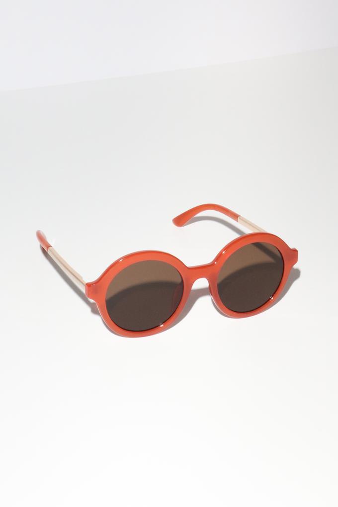 Reality Mind Bomb Sunglasses in Ochre