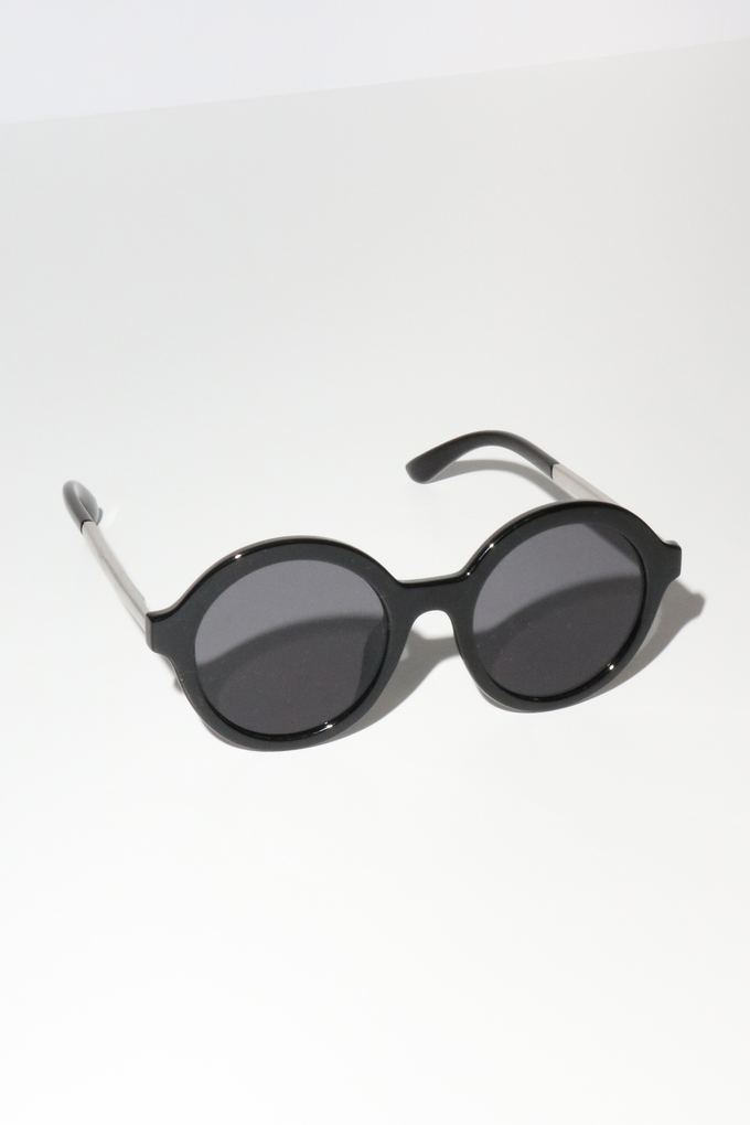 Reality Mind Bomb Sunglasses in Black + Silver