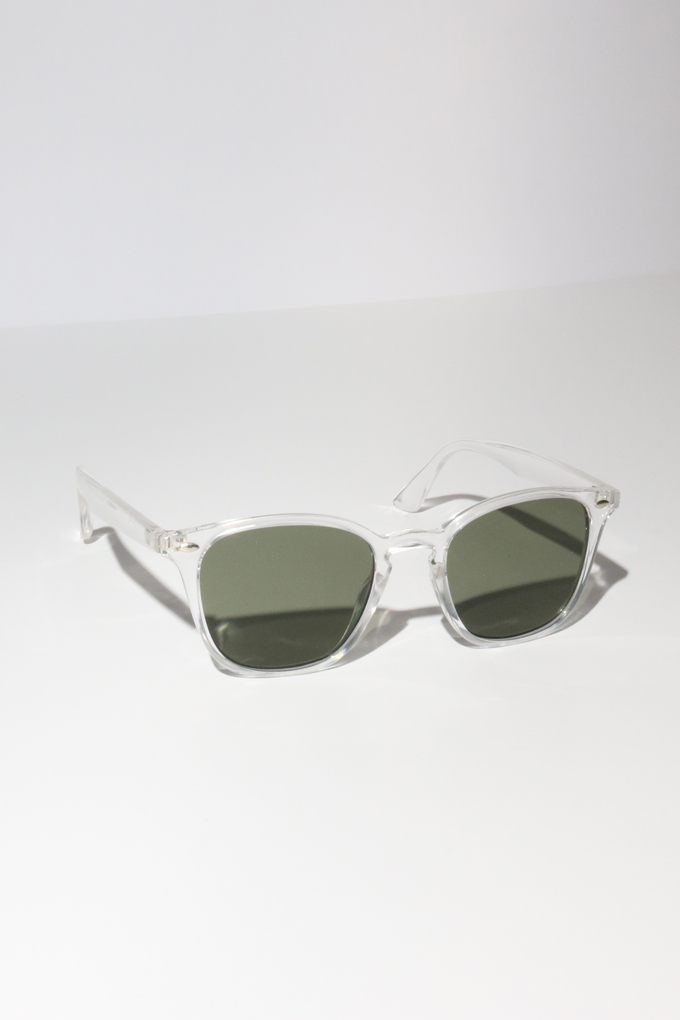 Reality Chelsea Sunglasses in Crystal Clear