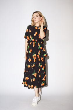 Just Female Sine Dress in Oranges