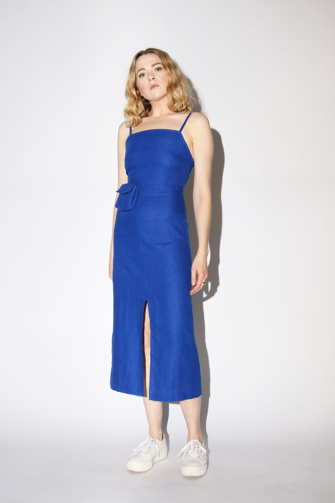 Paloma Wool Museo Dress in Intense Blue