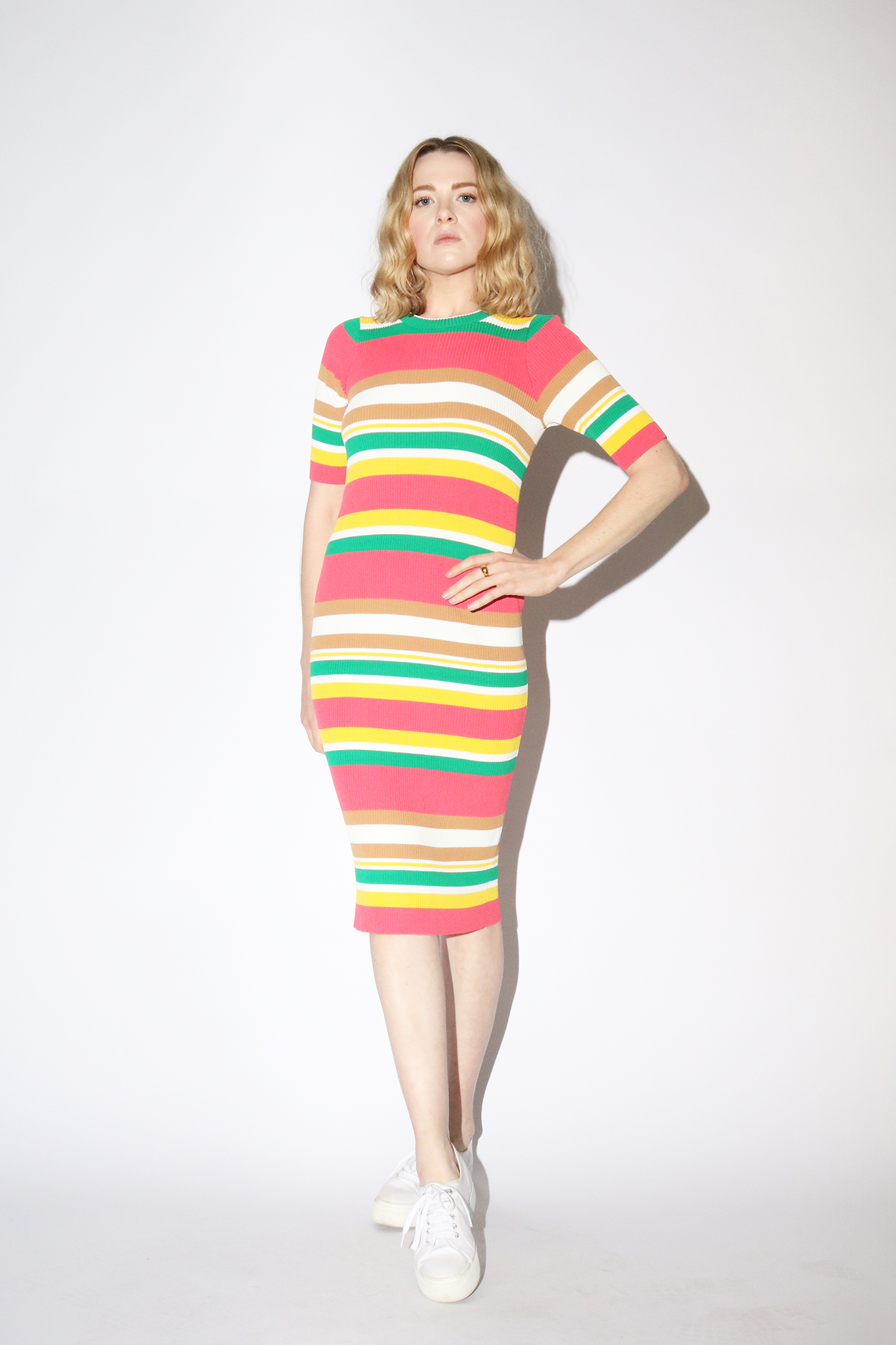 Callahan Keil Dress in Multi Stripe