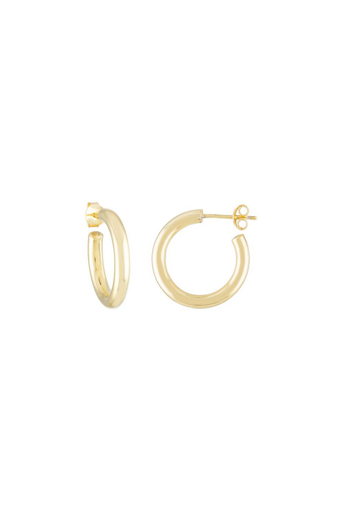 Machete Mini Hoops in 14k Gold