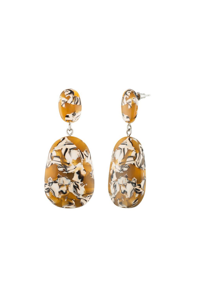Machete Grande Drop Earrings in Calico