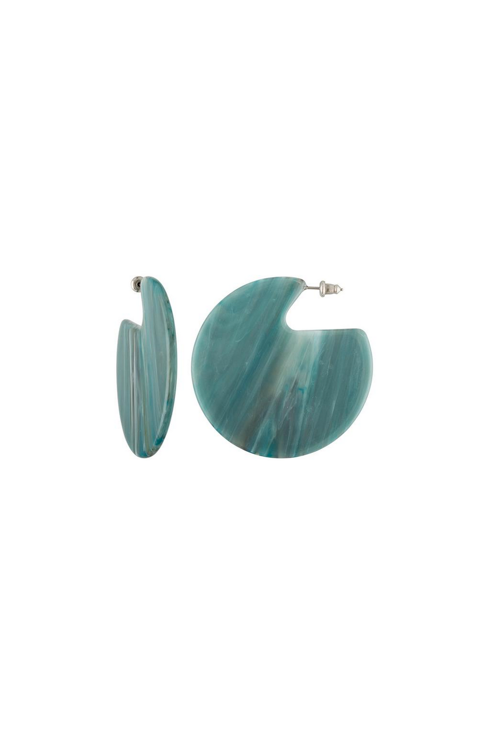 Machete Clare Earrings in Jadeite Green