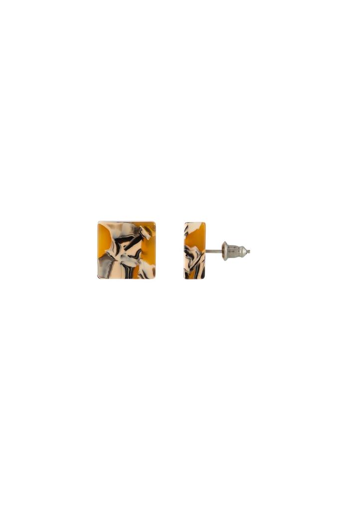 Machete Block Earrings in Calico