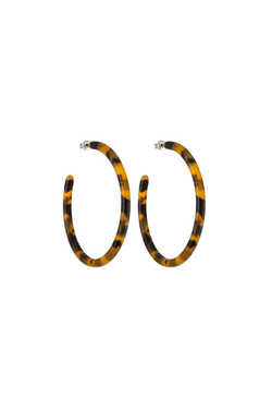 Machete Large Hoops in Classic Tortoise