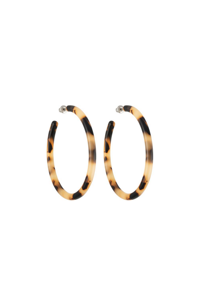 Machete Large Hoops in Blonde Tortoise