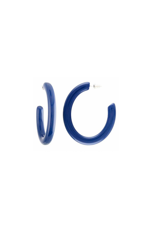 Machete Form Hoops in Parisian Blue