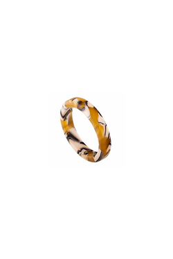 Machete Thin Stack Ring in Calico