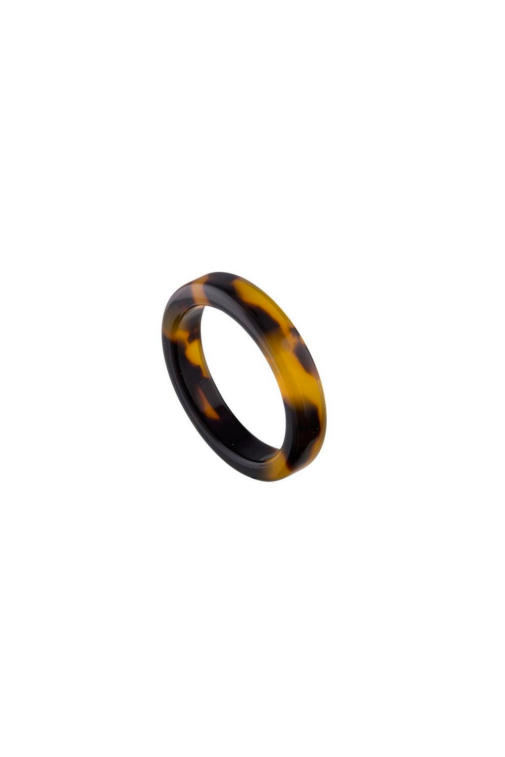 Machete Thin Stack Ring in Classic Tortoise