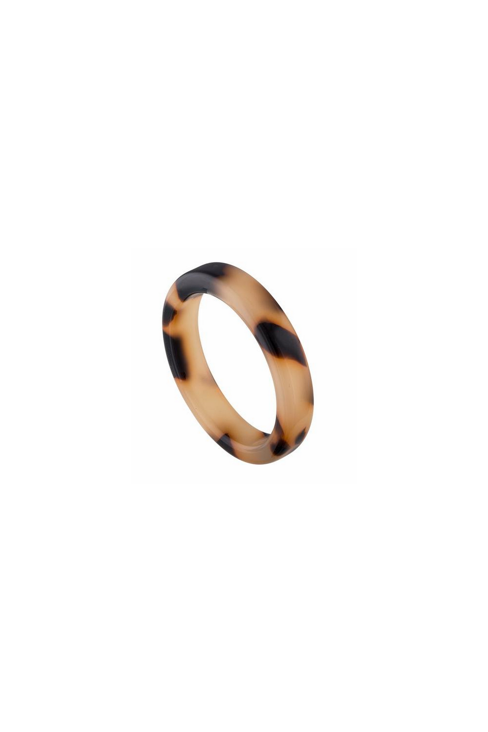 Machete Thin Stack Ring in Blonde Tortoise