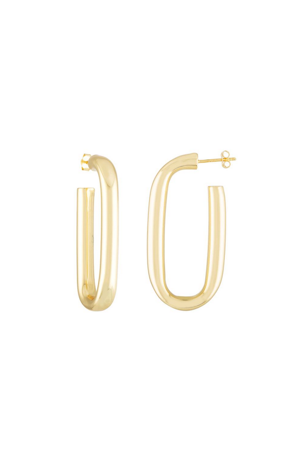 Machete Maya Earrings in 14k Gold