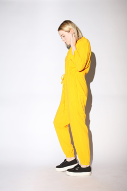 Callahan Patti Jumpsuit in Canary Yellow