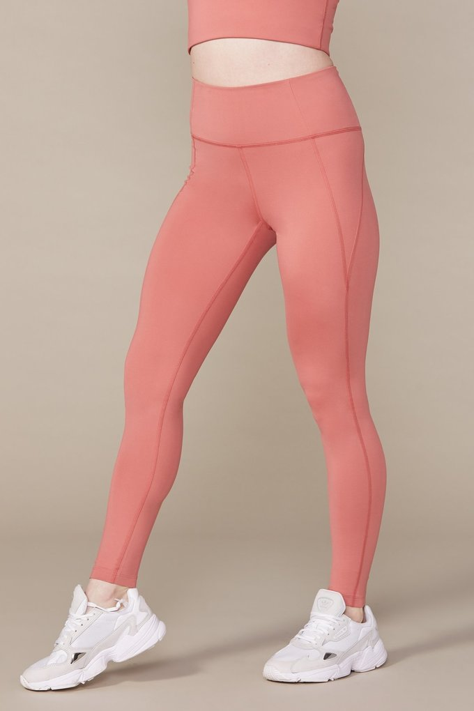 Girlfriend Collective High-Rise Compressive Legging in Clay
