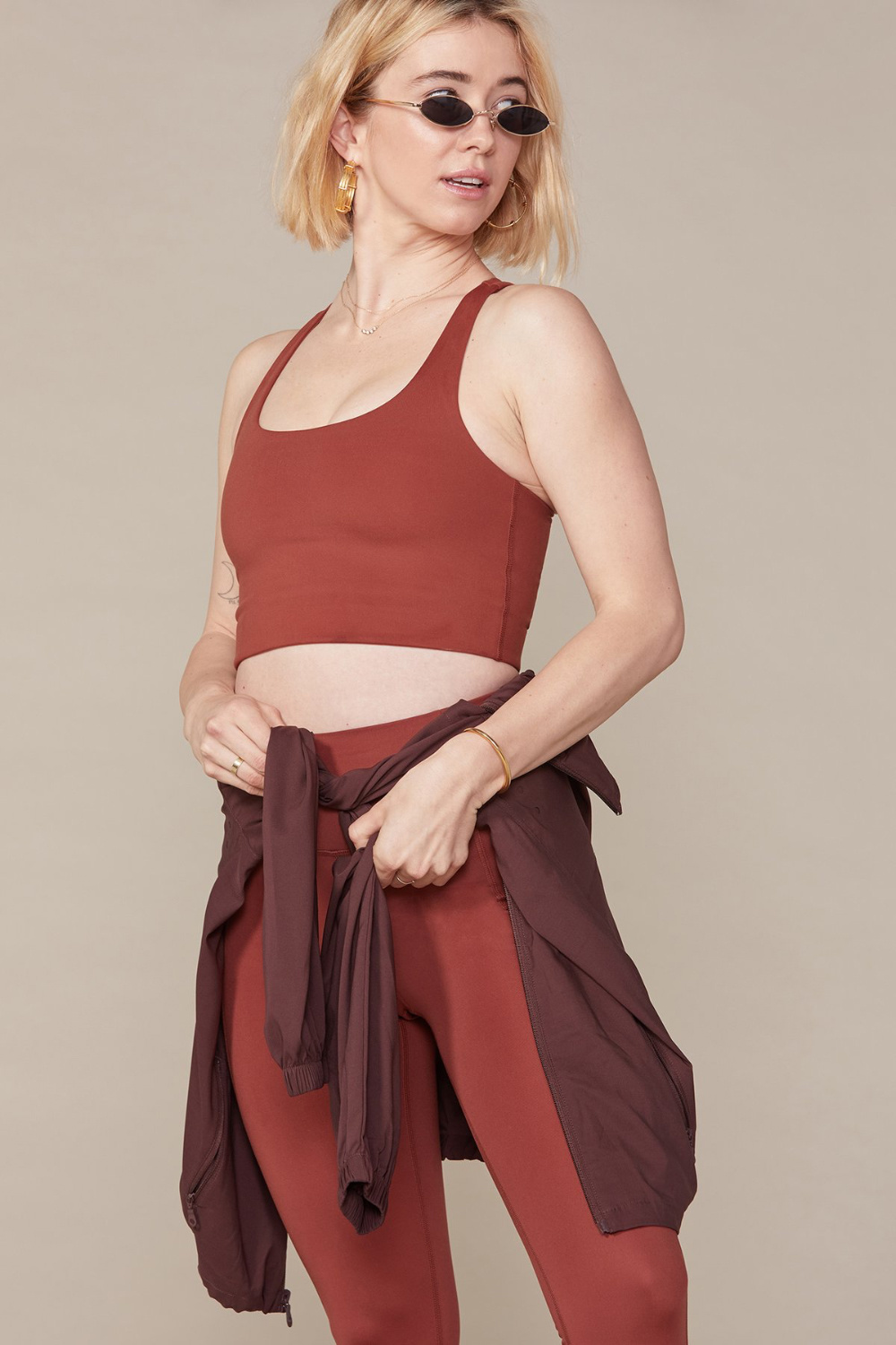 Girlfriend Collective Paloma Bra in Sedona