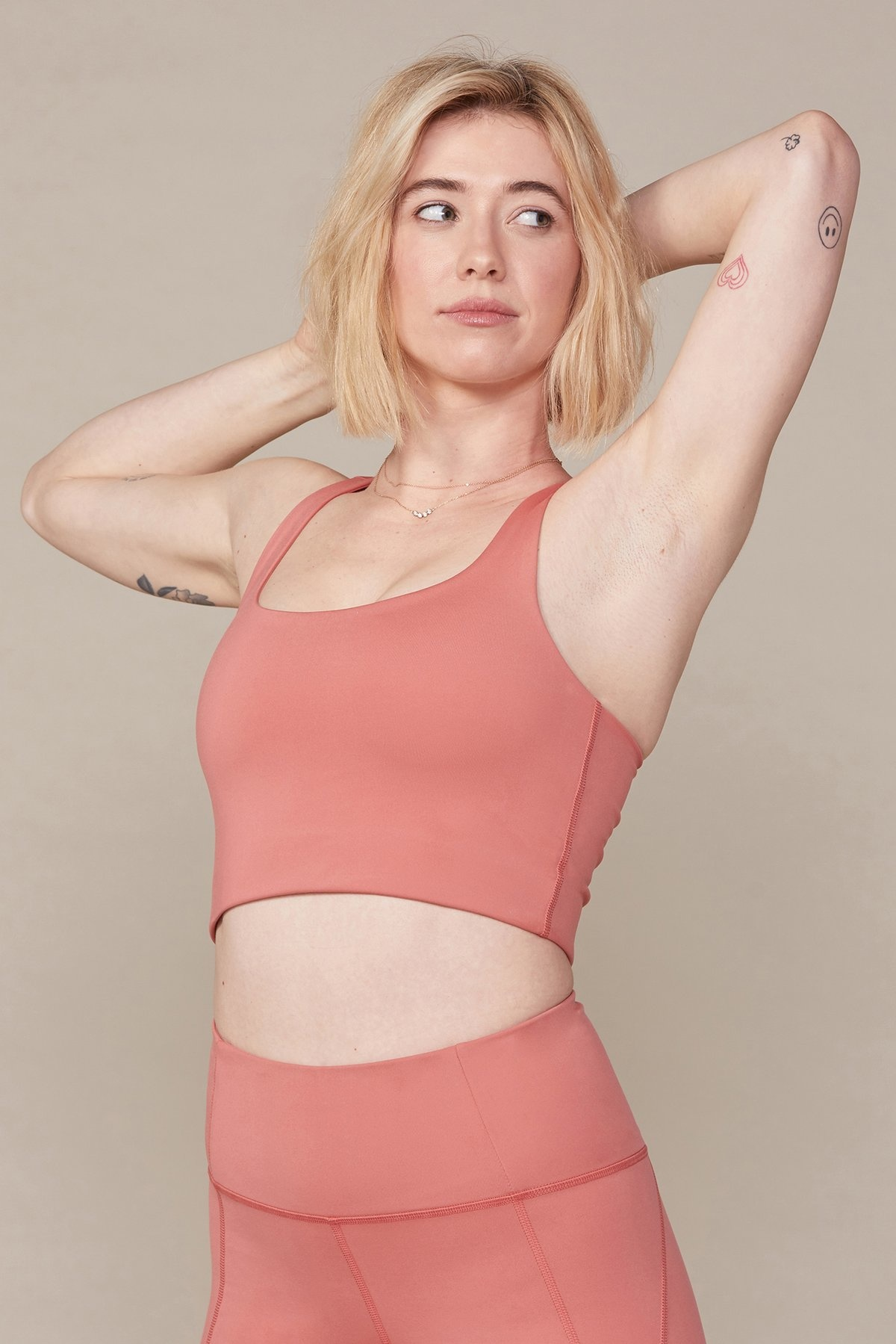 Girlfriend Collective Paloma Bra in Clay