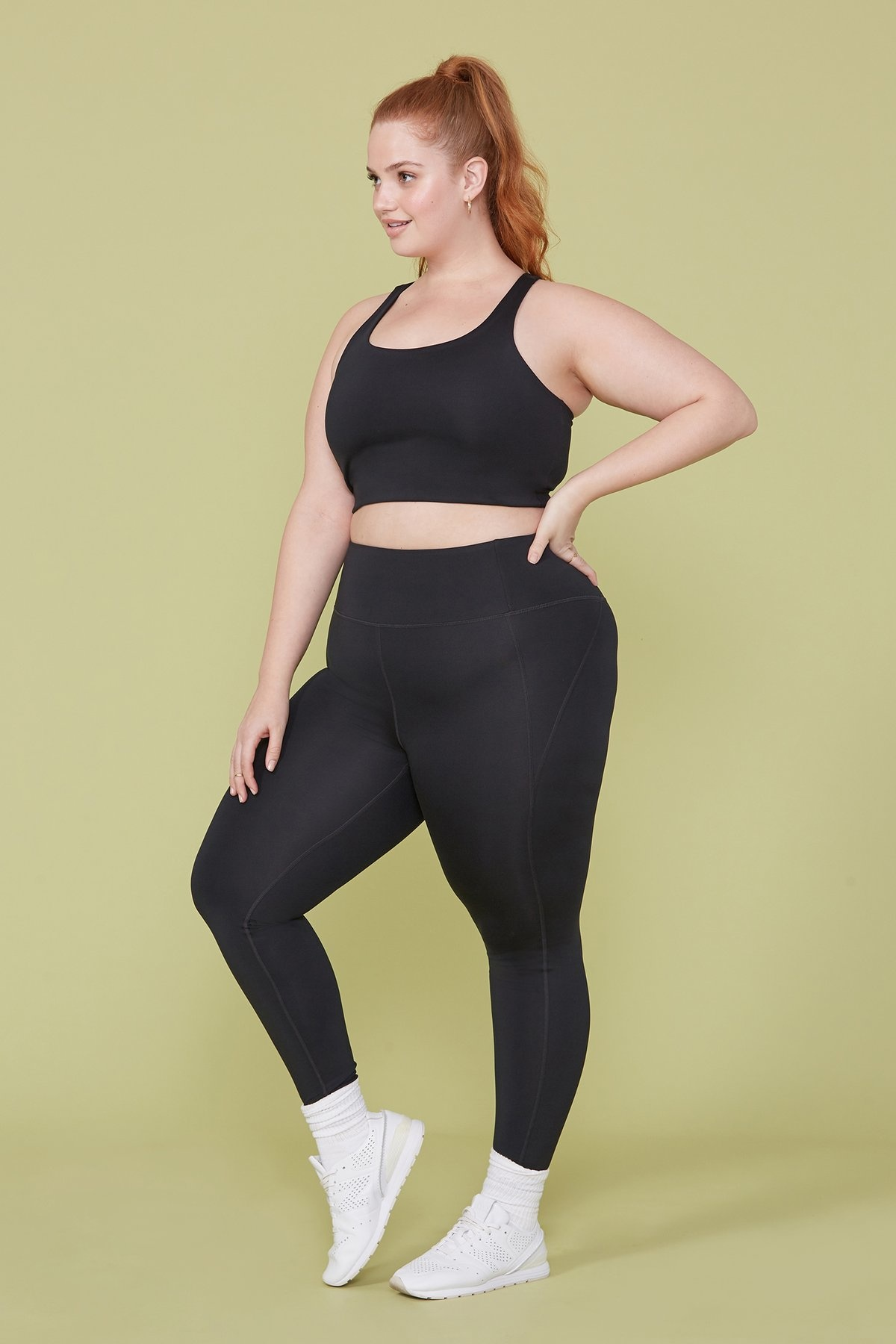 Girlfriend Collective High-Rise Compressive Legging in Black