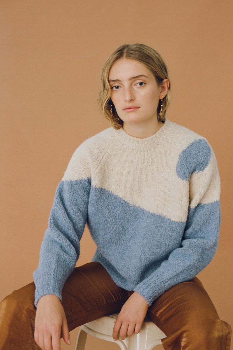 Paloma Wool Yin Yang Sweater in Sky Blue