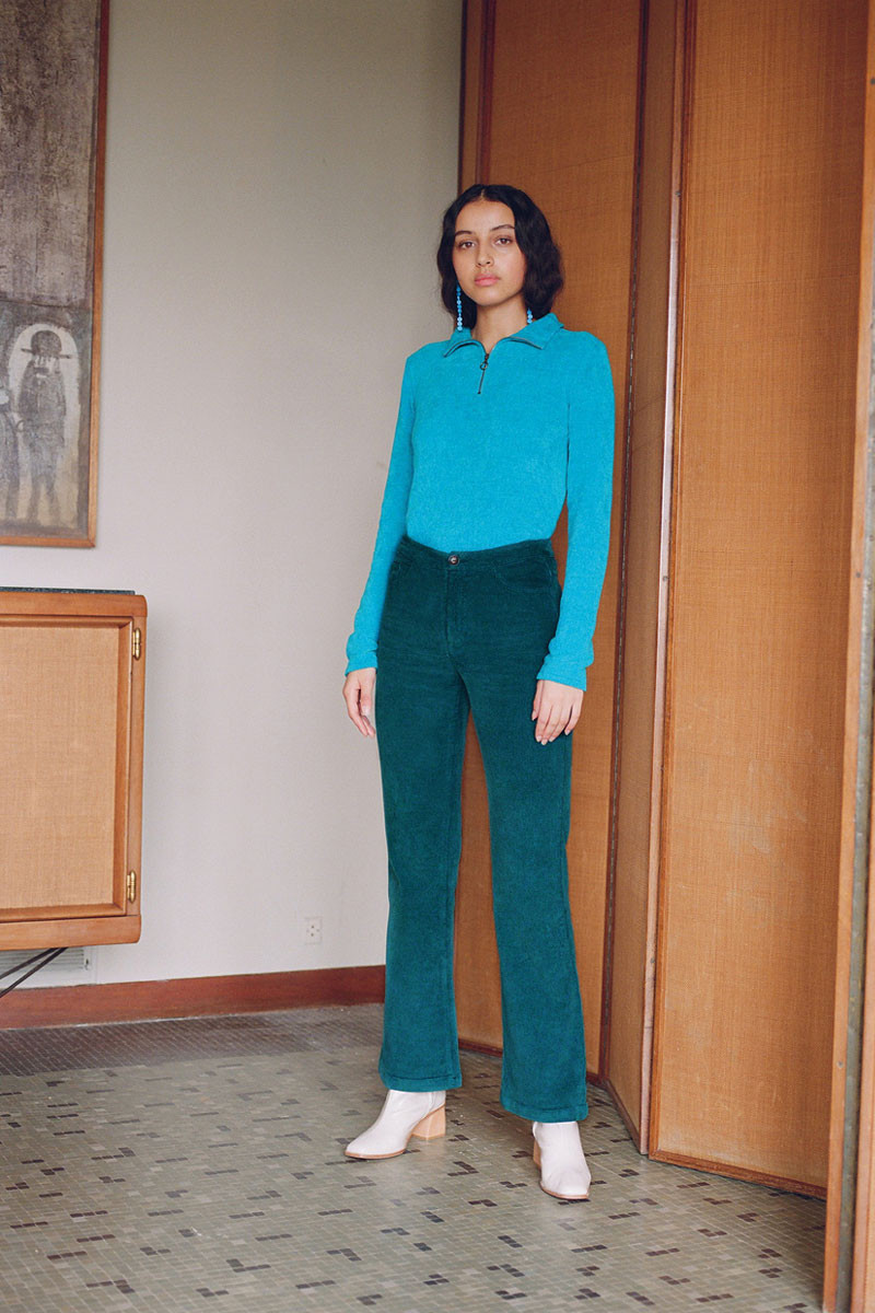 Paloma Wool Milton Pants in Smoke Green