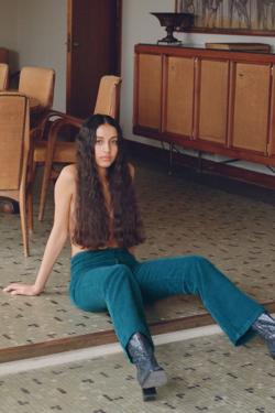 Paloma Wool Milton Pants in Smoke Green