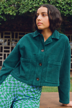 Paloma Wool Spa Jacket in Smoke Green