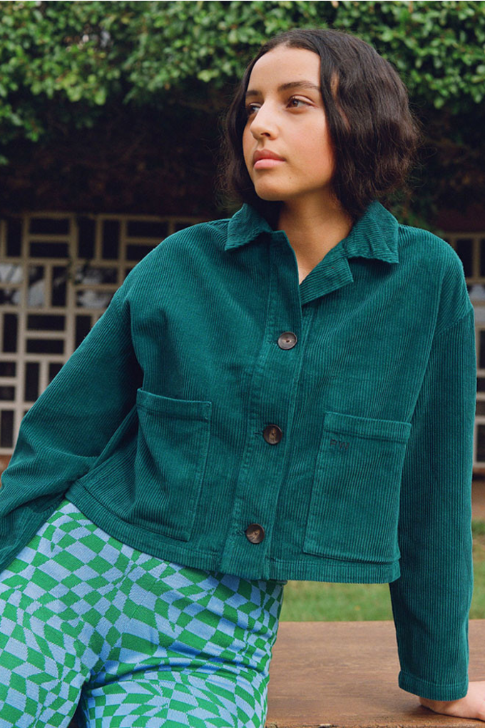 Paloma Wool Spa Jacket in Smoke Green