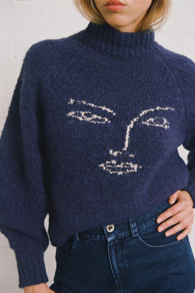 Paloma Wool Piero Sweater in Navy