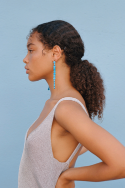 Paloma Wool Lacasa Earrings in Cyan