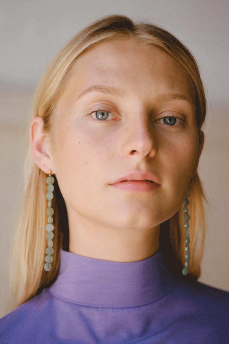 Paloma Wool Lacasa Earrings in Light Aquamarine