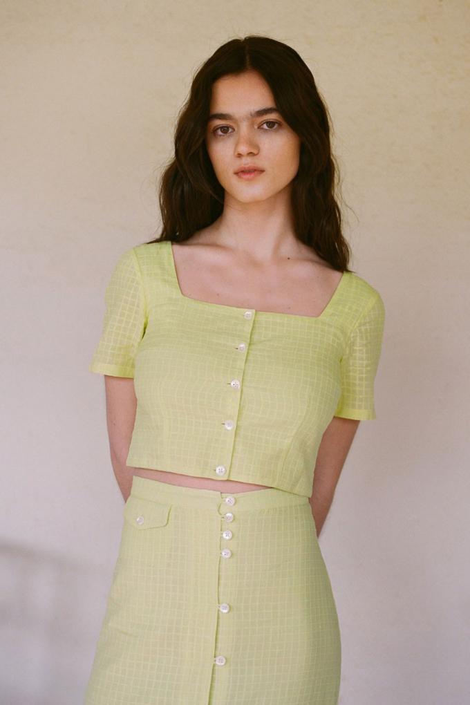 Paloma Wool Lenna Top in Light Green