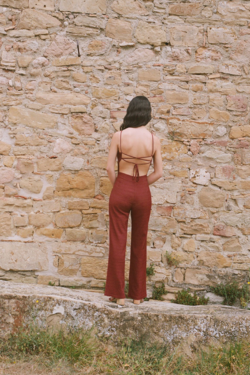 Paloma Wool Ava Jumpsuit in Wine